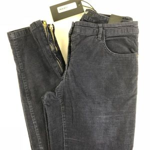Paige Transcend Verduga Ankle Zip Skinny Cords New